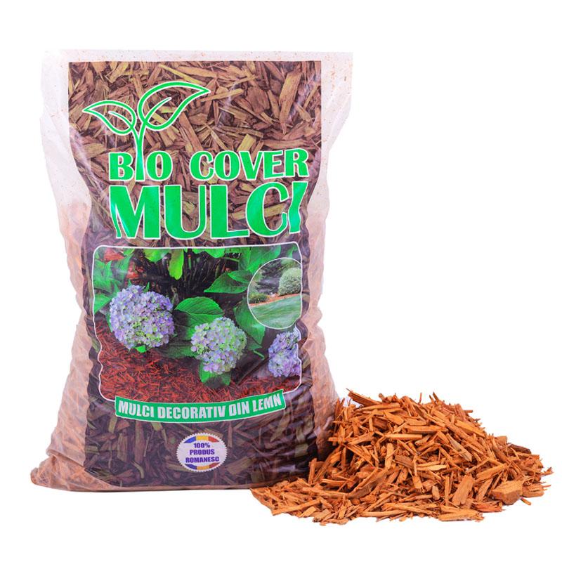 Mulci Portocaliu - 6 saci de 50L